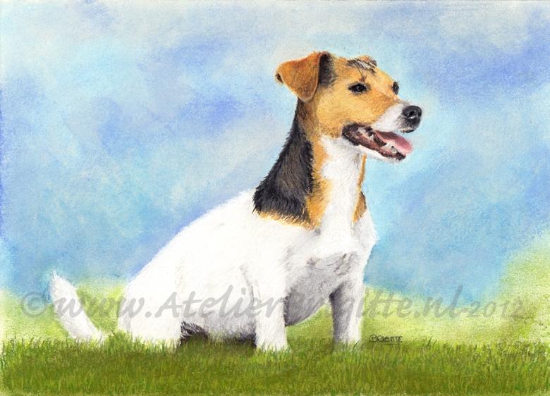 hond pien pastel A4