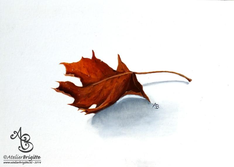 autumn herfst olieverf A5