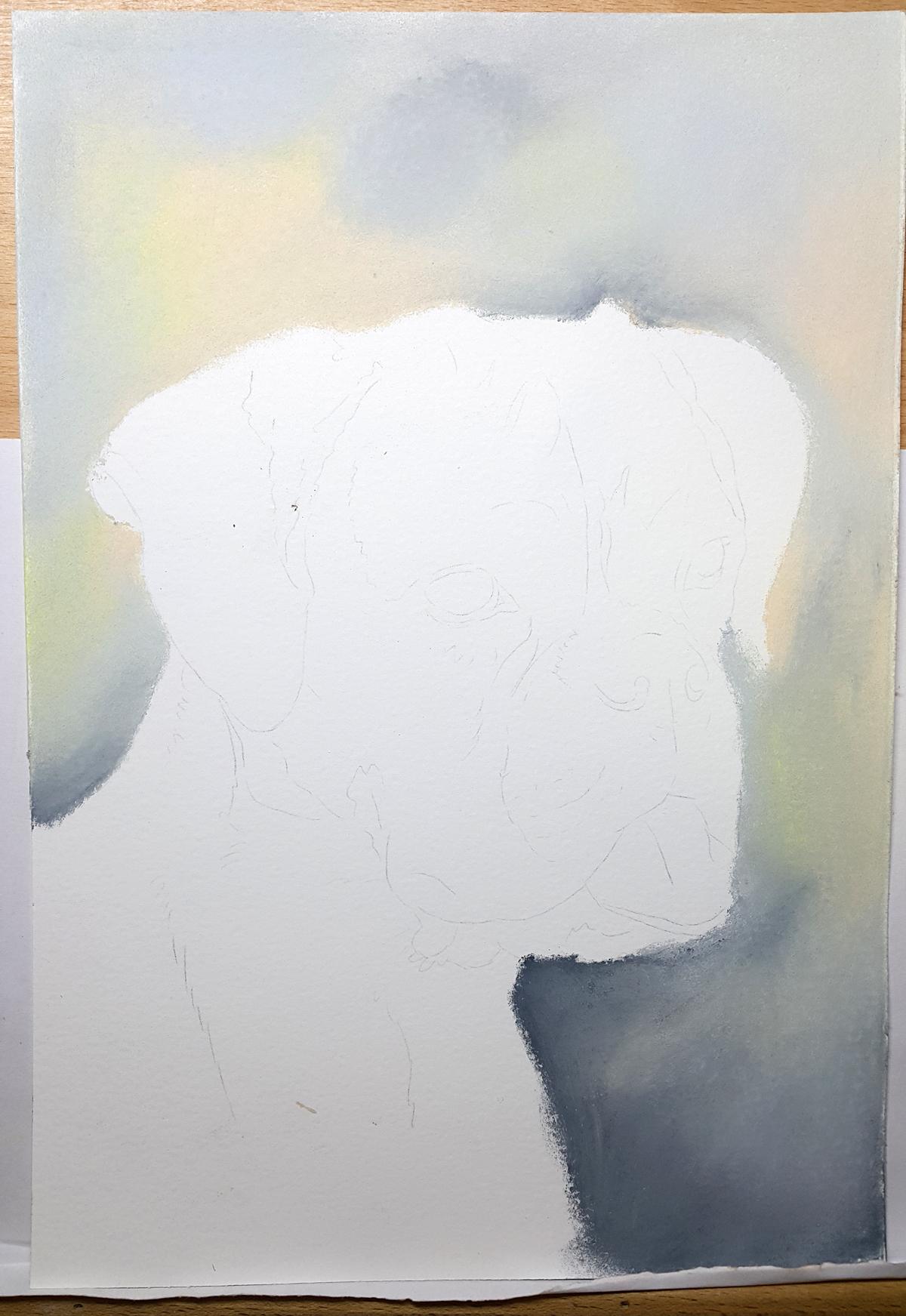 Stap 1 portret Hodel